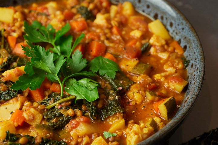 Chunky Vegetable and Lentil Soup